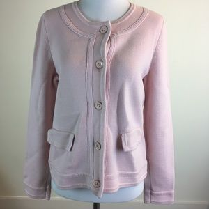 Talbots Pink Jacket Button Front Petites Size Mp
